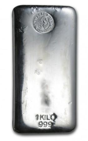 Buy Perth Mint 1 kilo Silver cast bar  with Indigo