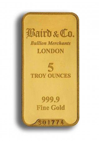 Buy 5 ounce  gold bar online