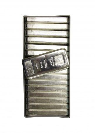 Buy 15 x Baird Silver cast bar 1 kilo buy LBMA Good Delivery online