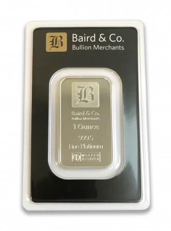 Buy 1oz platinum bar ARGOR & Baird Minted bar