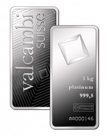 Buy 1 kilo platinum Valcambi bar .999 Fine online