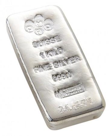 Buy 1 kilo Silver PAMP Bar - .999 Fine online from Indigo