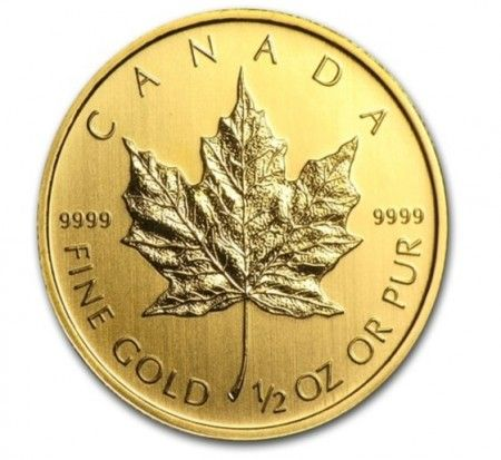 Canada Gold Maple Leaf coin 1/2 oz buy online