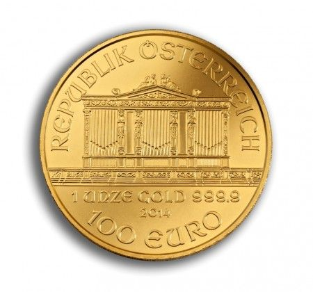 Philharmonic gold coin 1 ounce 2014 front buy online