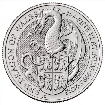 Buy 1oz Queen's Beasts Red Dragon Platinum coin | Indigo