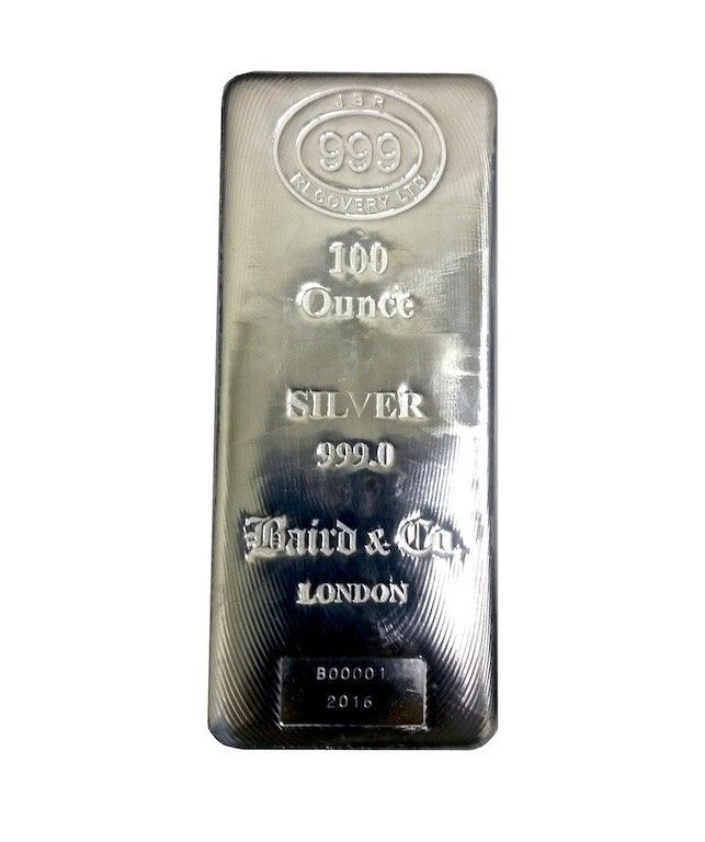 Buy 100 Oz Silver Lbma Cast Bar 999 New In Usd