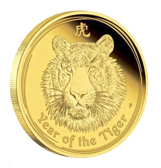 Buy 2010 Gold Lunar Tiger Bu 1oz Coin 9999 In Usd