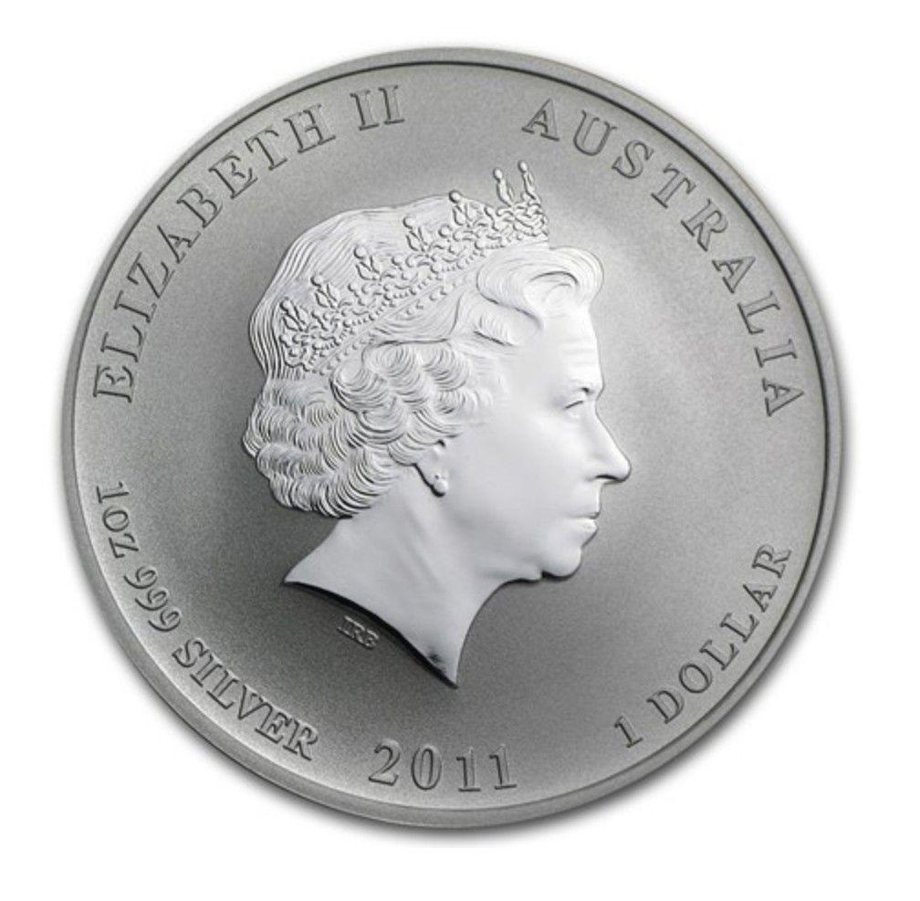 Series II from Perth Mint in Australia 2011 Lunar Rabbit 1 oz Silver Coin