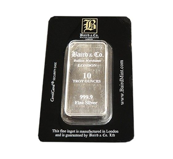 Baird Silver Investment Bars Packaging Online Bar 500 Grams