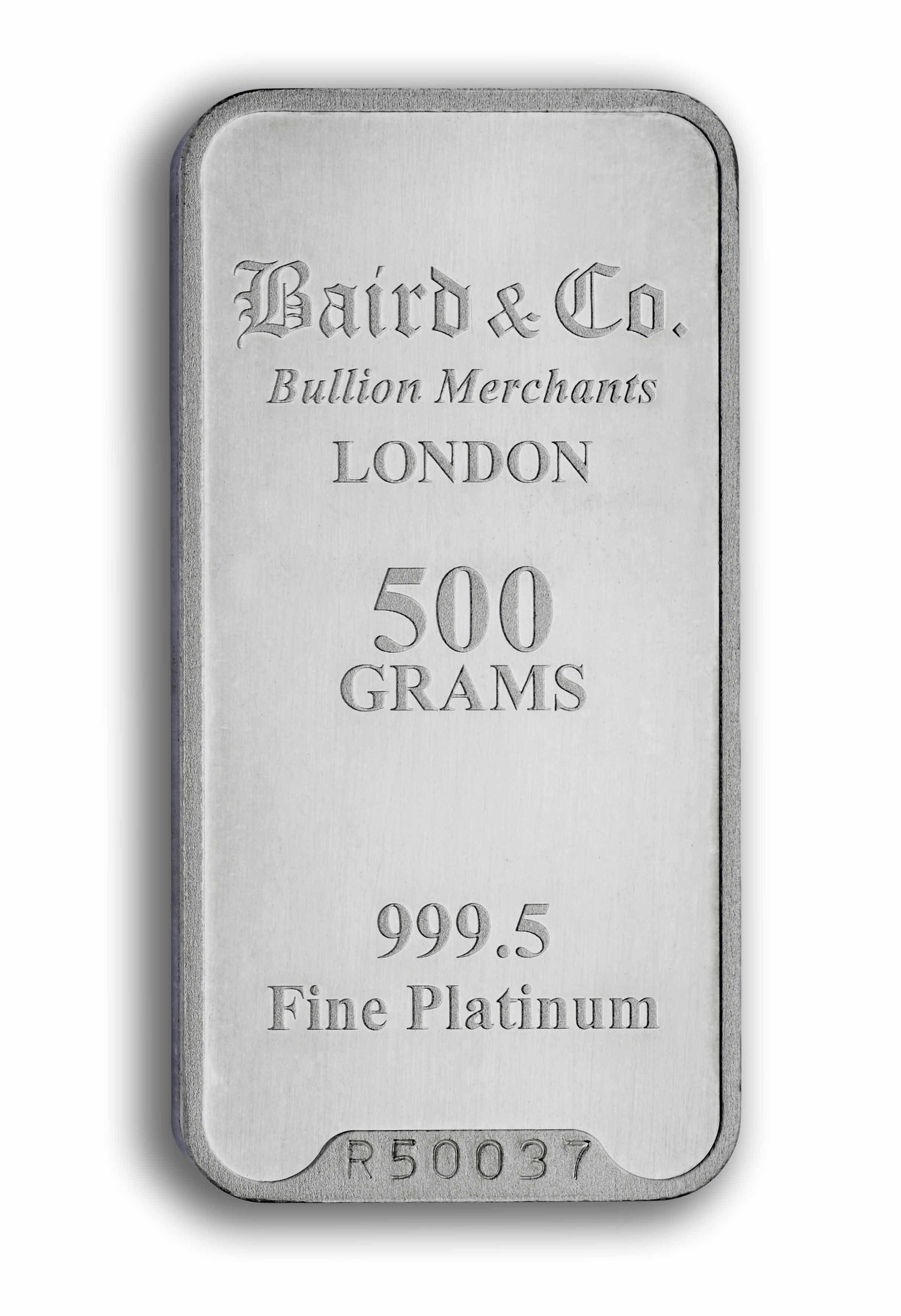 Baird Platinum Investment Bar 500 Grams Online