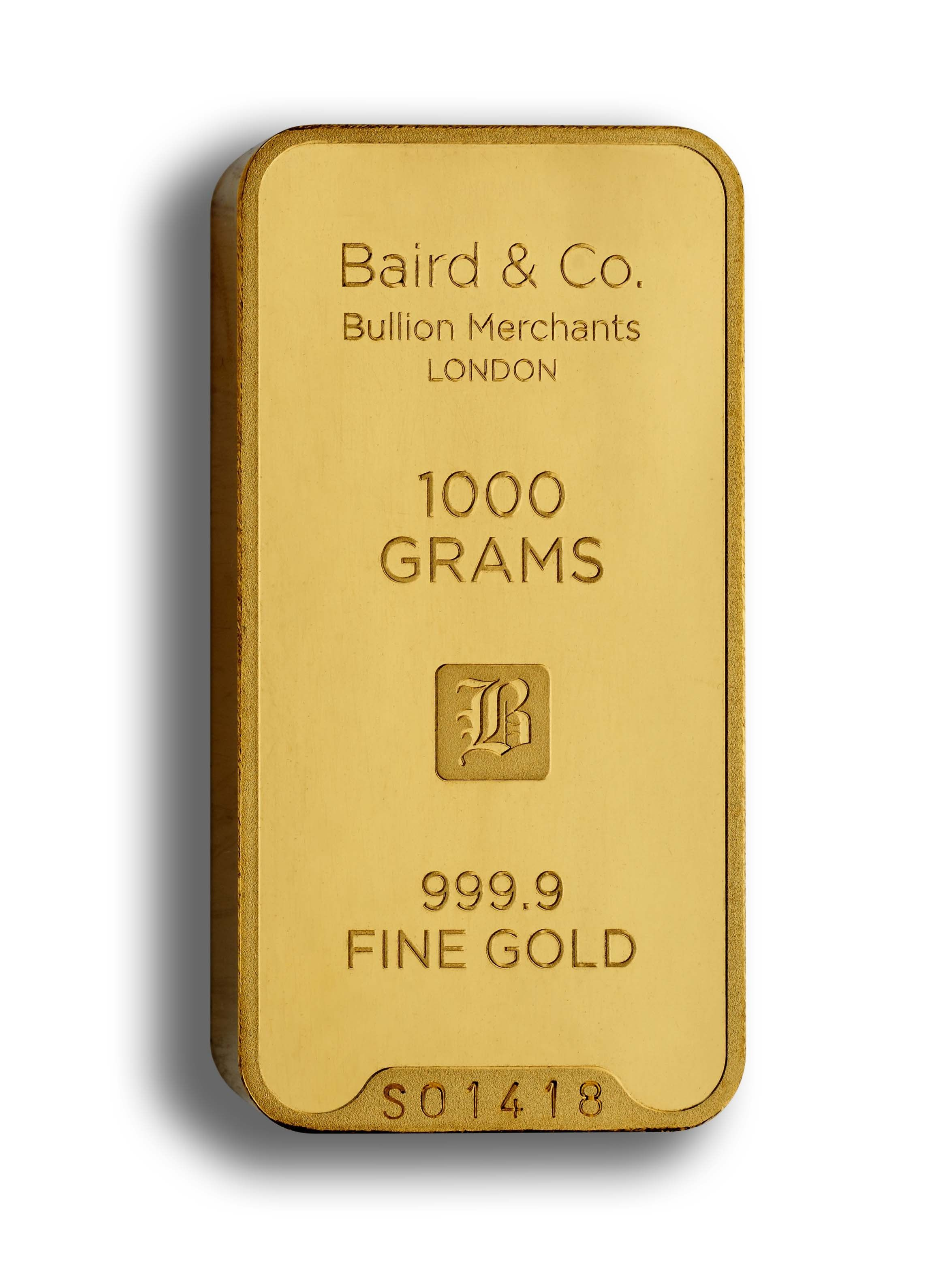 Gold Minted Bar 1000 Grams 99 Purity