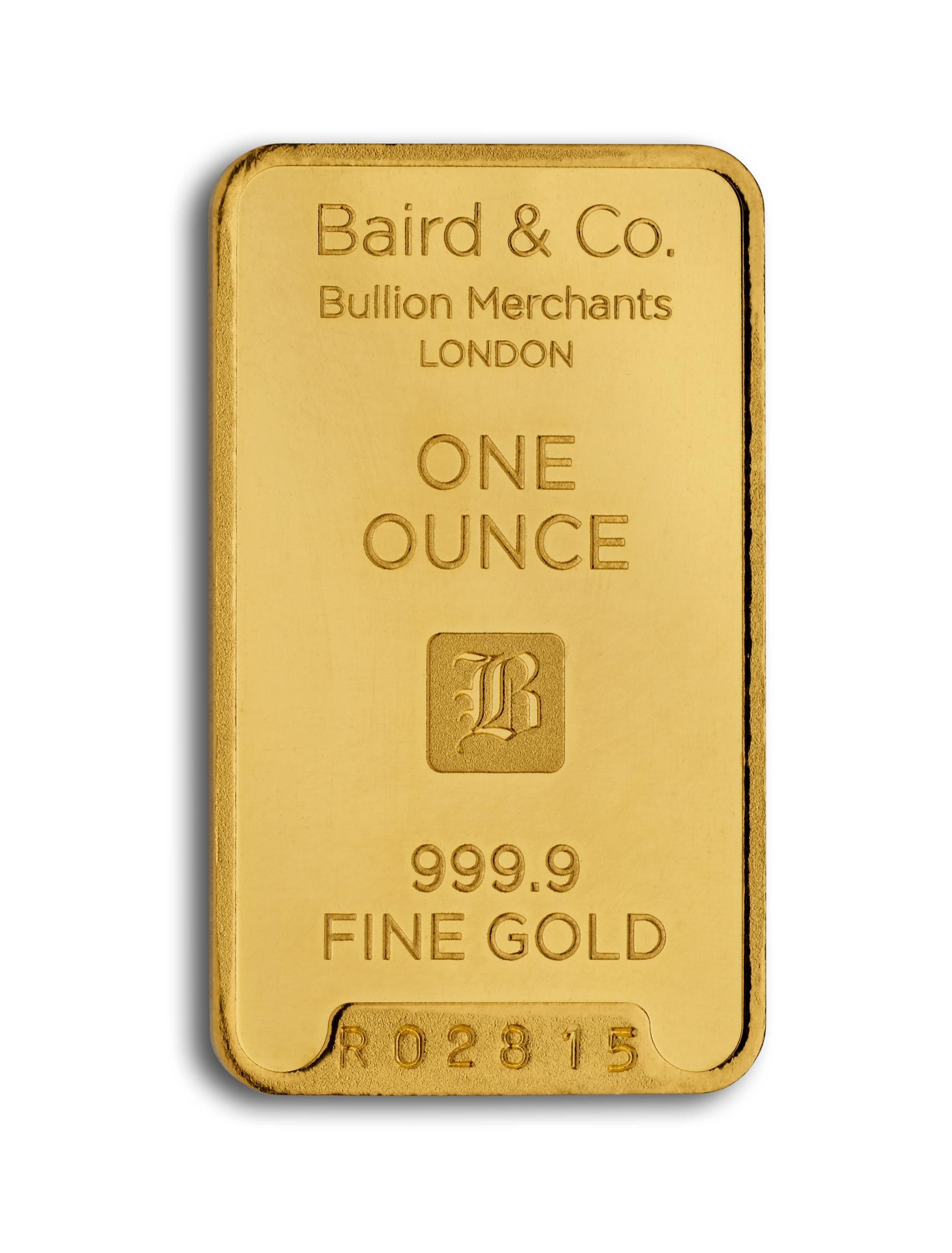 Gold Minted Bar 1 Ounce 99 Purity
