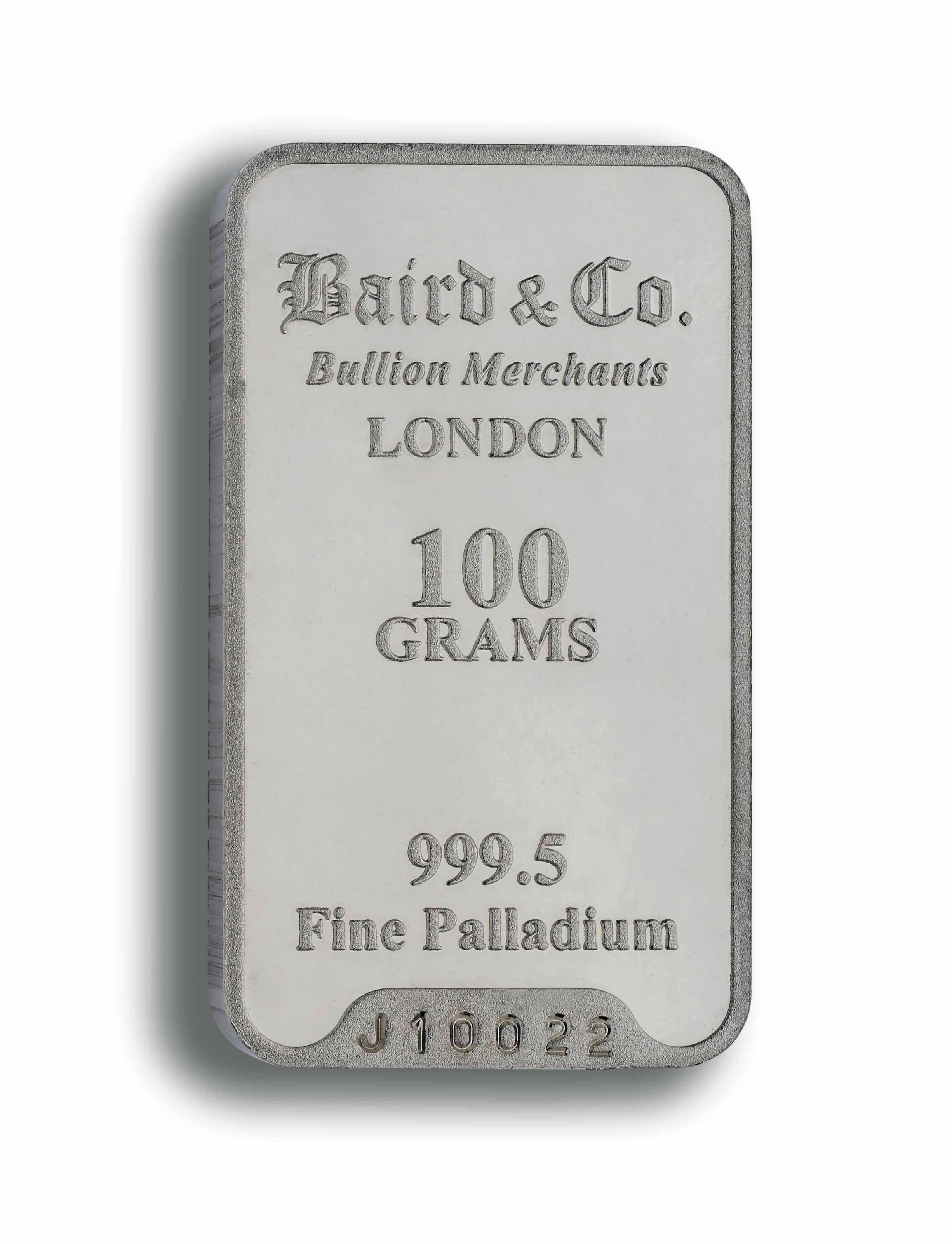 atrakcyjna cena całkiem fajne najbardziej popularny Palladium Minted Bar - 100 grams 999.5%