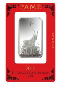 Buy Lunar Year of Goat Silver 1oz with Indigo