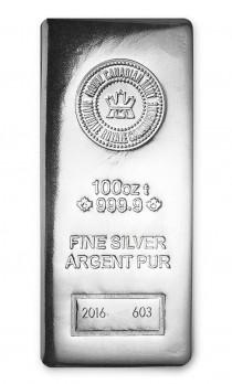 Buy 100 oz Silver Bar - RCM .9999 Fine online