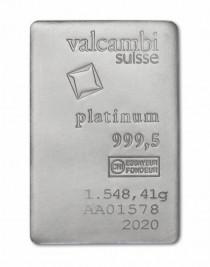 Buy 50oz platinum Valcambi cast bar online with Indigo