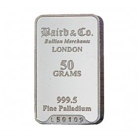 Palladium Investment Bar - 50 grams 999.5%