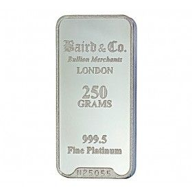 Platinum Investment Bar - 250 grams, 999.5% Pt