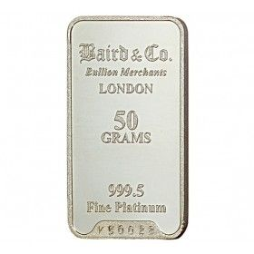 Platinum Investment Bar - 50 grams, 999.5% Pt