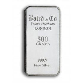 Silver 500 grams Investment Minted Bar - 999.9% Ag