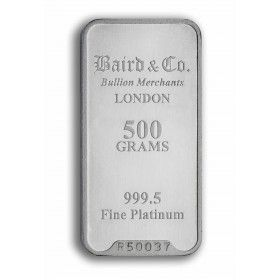 Platinum Minted Bar - 500 grams, 999.5% Pt