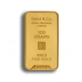 Gold Minted Bar - 100 grams, 99.99% Purity