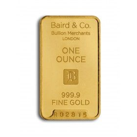 Gold Minted Bar - 1 ounce, 99.99 % Purity