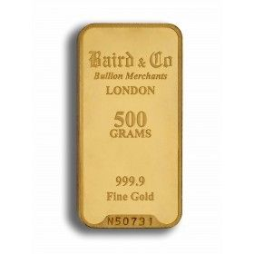 Gold Minted Bar - 500 grams, 99.99% Purity