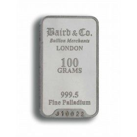 Palladium Minted Bar - 100 grams 999.5%