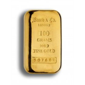 100 gram Gold Cast Bar, 99.99% Purity