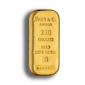 250 gram Gold Cast Bar, 99.99% Purity