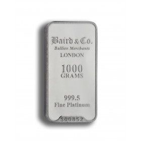 Platinum Investment Bar - 1000 grams, 999.5% Pt