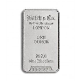 1oz Rhodium Minted Bar, 999% Purity