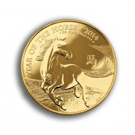 Lunar Year of the Horse 2014 UK 1oz Gold Bullion coin