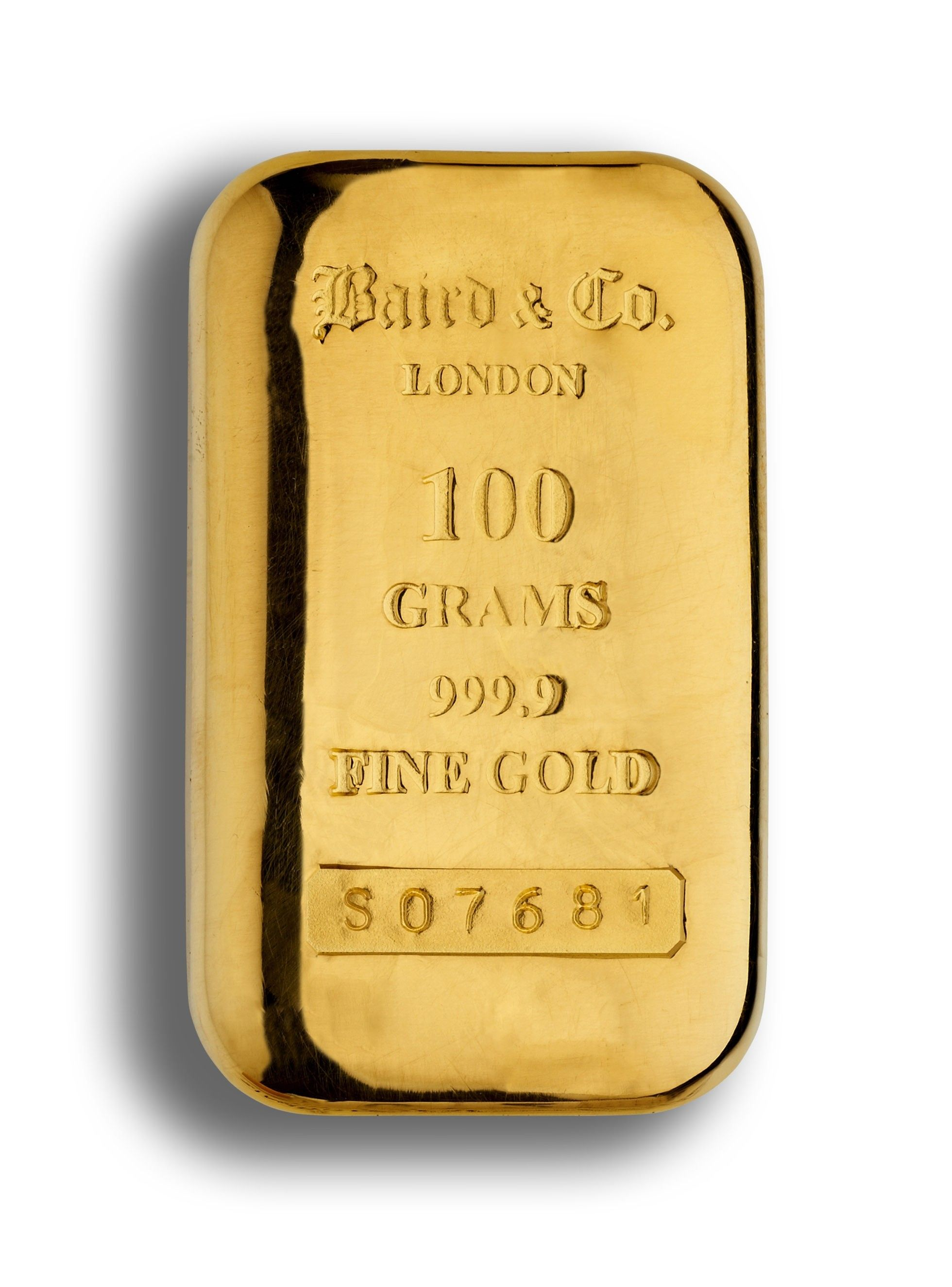 100 Gram Gold Cast Bar 99 Purity