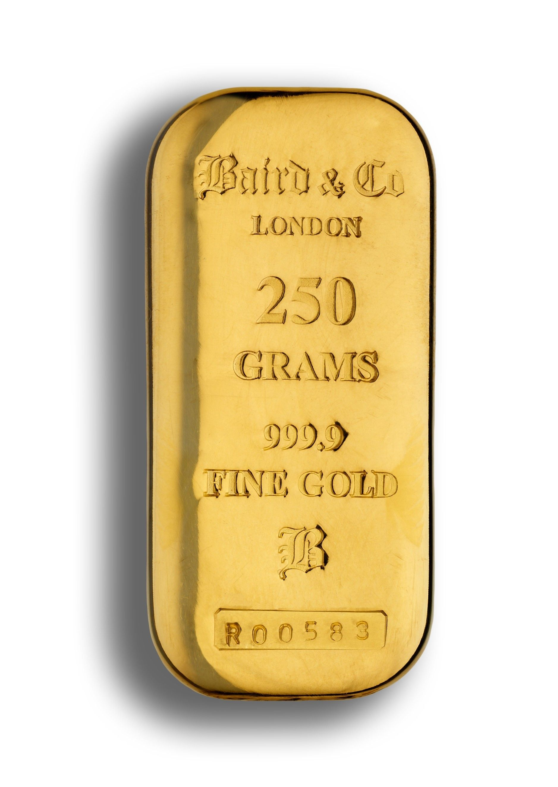250 Gram Gold Cast Bar 99 Purity
