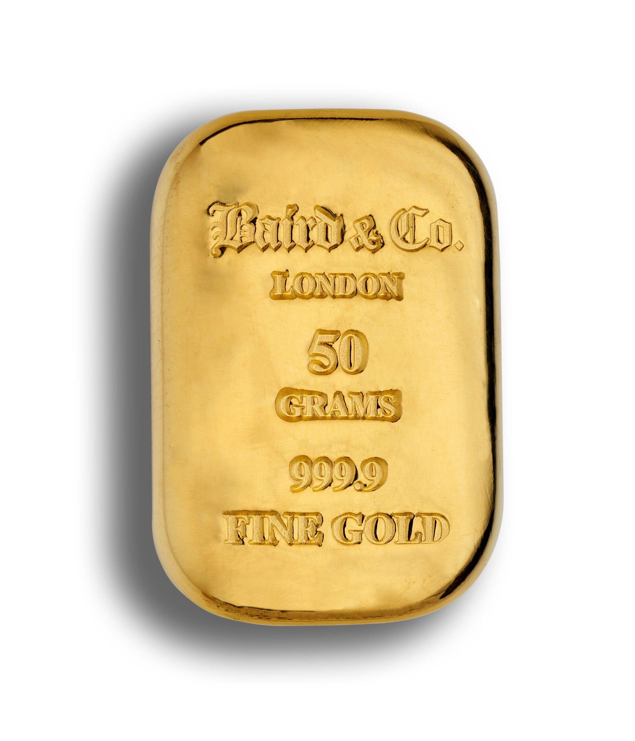 50 Gram Gold Cast Bar 99 Purity