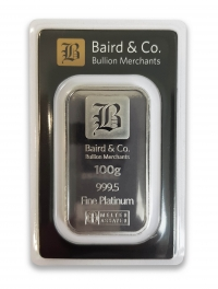 Buy 100g platinum bar ARGOR & Baird Minted bar