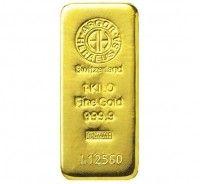 Argor-Heraeus gold cast 1 kilo bar buy online
