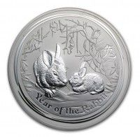 Buy 2011 Australia 1 oz Silver Year of the Rabbit BU online