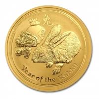 1oz gold Year of Rabbit, buy online with Indigo