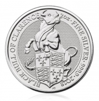 Silver 2oz coin UK RMR Black Bull buy online with Indigo