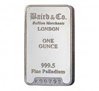 Baird Palladium Investment bar 1 ounce buy online