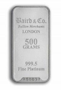 Baird Platinum investment bar 500 grams buy online