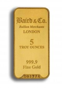 Buy 5 ounce  gold bar online