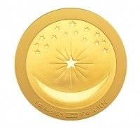 gold islamic coin 1 ounce celestial moon and crescent buy online