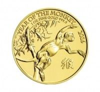 UK gold coin 1 ounce Year of Monkey front view buy online