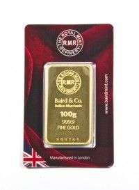 Royal Mint minted bar 100 grams buy online