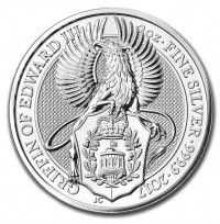 Silver 2oz coin UK Royal Mint Griffin buy online with IPM Group