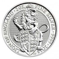 2oz silver queens beasts coin, buy online with ipm group